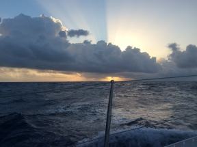 Sailing upwind from Saba to Statia and St Kitts