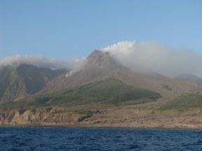 Mt. Soufriere, Montserrat: it's a volcano